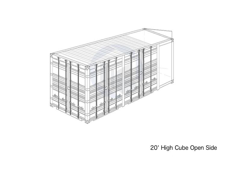 20' High Cube Open Side