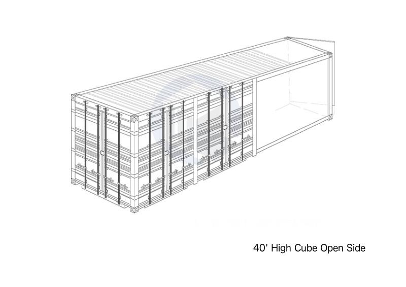 40' High Cube Open Side