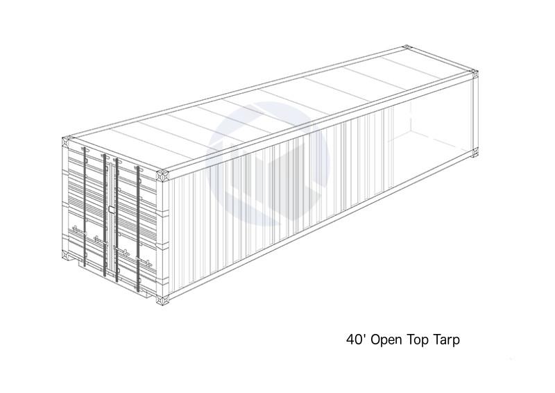 40' Open Top Tarp