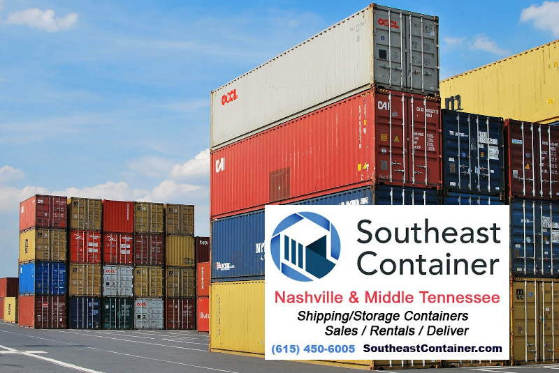 steel storage containers stacked in a port